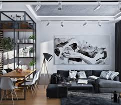 Black White And Green Interior Design