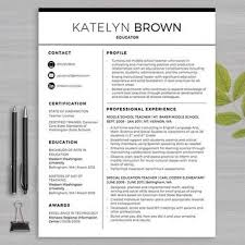 Resume Templates For Educators Beauteous Modern Education Resume Template Multiusernet