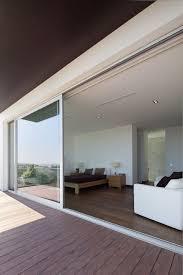sliding patio door aluminum double glazed thermally insulated