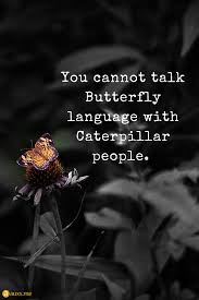 You Cannot Talk Butterfly Language With Caterpillar People Quotes