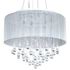 white drum pendant light loose chandelier crystal white fabric shade modern drum pendant light chrome finish white drum pendant light