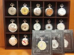 lot of 15 atlas editions heritage collection pocket watches period 19th century with