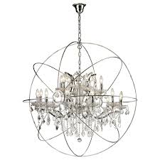 chandelier interesting orb with crystals ideas