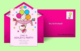 Party Invitation Generator Party Invitation Maker Online Free Plan A Hello Kitty