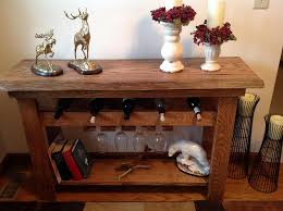 wine rack console table. Wine Rack Console Table And Mirror Set C
