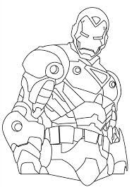 Industrialist tony stark leads his private team of superheros as iron man against the forces of evil. How To Draw Iron Man Coloring Page Netart