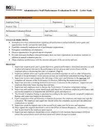 Employee Performance Evaluation Templates Employee Performance Evaluation Sample Template Topgamers Xyz