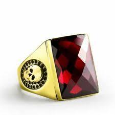 <b>Red Garnet Rings</b> for Men for sale | eBay