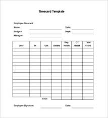 Timecard Template Word Timecard Template Free Sinma Carpentersdaughter Co