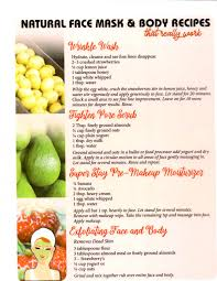 The Rainbow Diet By Deanna Minnich Free All Natural Face Mask Recipes Chart Included