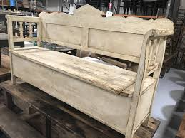retro industrial furniture. Vintage Industrial Hungarian 1930s Wooden Kitchen Bench Seat #2146 Byron Bay Retro Furniture