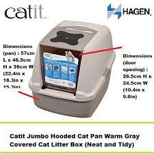 hagen catit hooded cat litter box. Catit Jumbo Hooded Cat Litter Pan (Warm Grey) - Toilet | Shopee Malaysia Hagen Box N