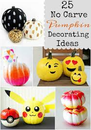 No Carve Pumpkin Decorating Designs
