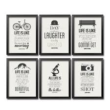 Life Quote Posters Modern Inspiring Life Quote Art Painting Posters and Prints Wall 40