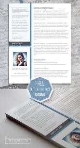17 best images about resume templates for word a splash of blue the modern resume design
