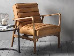 modern lounge chairs uk. contemporary leather and wood effect datsun armchair in tan or ebony modern lounge chairs uk i