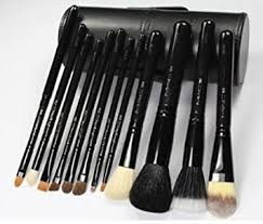 mac 12pc makeup brush set black black