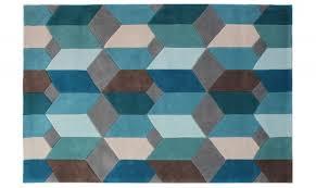 infinite scope rug teal 120 x 170cm
