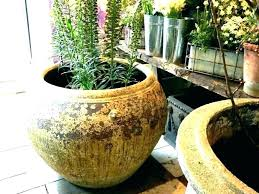 glazed indoor plant pots large ceramic garden pot blue mic flower planter in terracotta outdo