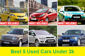 5 most reliable vehicles under 3 000