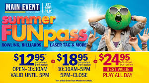 Min Event Schools Out Summers In At Main Event Entertainment