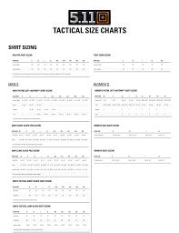 16 Correct 5 11 Sizing Chart Jackets