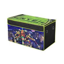 Ninja Turtle Bedroom Furniture Nickelodeon Teenage Mutant Ninja Turtles Collapsible Storage Trunk