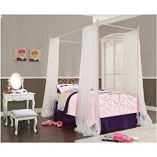 Powell Canopy Wrought Iron Princess Twin Bed, Multiple Colors ...