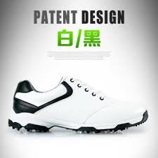 pgm men super fiber leather non slip spike golf shoes size 39 44 color white black malaysia