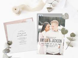 Wedding Invitation With Photo Popular Wedding Invitation Trends For 2019 Stationers
