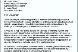 Thank You Letters After Teaching Interview