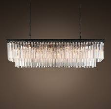 copy cat chic restoration hardware 1920 s odeon clear glass fringe chandelier