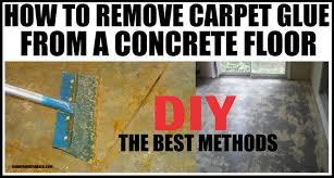 remove carpet glue
