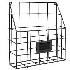 wall mounted mail bin wire metal rack newspaper home decor ideas for living room my down to the wire wall bin
