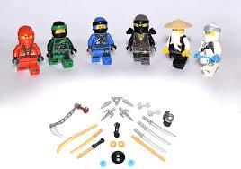 Lego Ninjago Figures All 5 Ninja and Master Wu (Green Ninja Blue Ninja  Black Ninja White Ninja and Red Ninja) and BMG2000 Stickers: Amazon.de:  Toys & Games