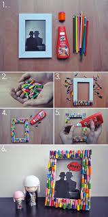 colored pencils create a playful frame