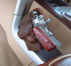 car holster with mounting kit all leather holster texas custom holsters