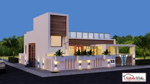 single storey elevation 3d front view for single floor