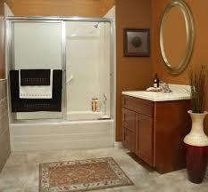 Bathroom : Bathroom Modern Bright White Bath Tub Combined With ...