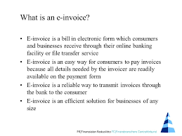 Easy Invoice Delectable Einvoice For Consumers Information In Brief For Invoicers February