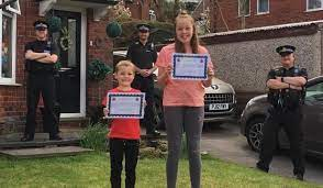 Little Leo's Captain Tom accolade from local bobbies | The Oldham Times