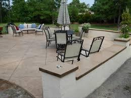 plain concrete patio. Concrete Walls And Caps Plain Patio O