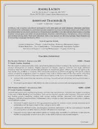 Resume For Preschool Teacher Inspirational Resume For Teacher