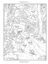 Small Picture Creative Haven Midnight Forest Coloring Page doverpublications