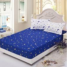 star bed sheets new blue twin full queen size 1pcs sheet fitted printing with regard to 5