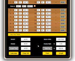 Time Sheet Online 10 Online Timesheet Calculator Websites Free
