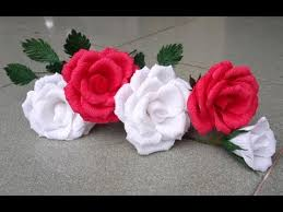 Glace Paper Flower Abc Tv How To Make Rose Paper Flower From Crepe Paper Craft Tutorial