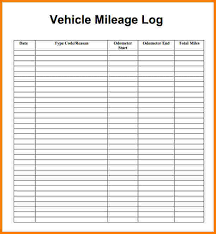 Mileage Worksheet Excel Mileage Log Template Business