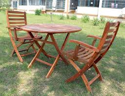 folding round patio table outdoor wood and chairs with 2 person teak toronto