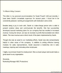 Sample Employment Letters Of Recommendation Referral Letter For Employee Letter Of Recommendation For Employee